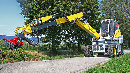 Menzi Miles wheel excavators