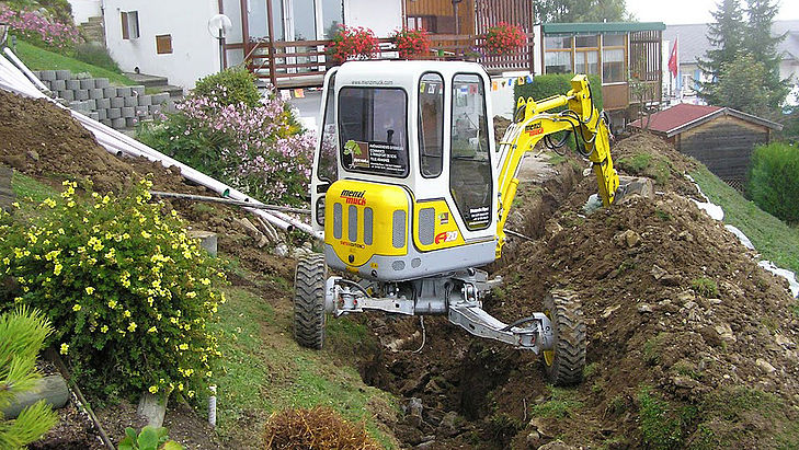 Menzi Construction Equipment In Landscape Gardening Menzi Muck Ag